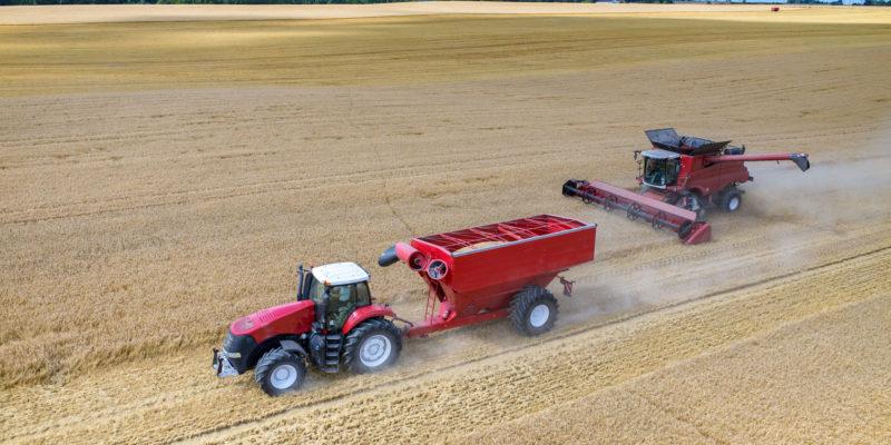 tractors working